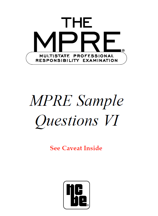 Mpre Legal Ethics And Professional Responsibility
