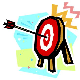 target hitting bullseye